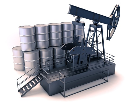 bbl: Oil production Stock Photo