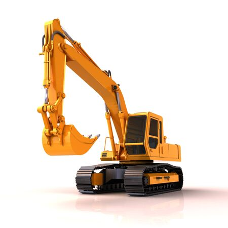 Excavator isolated Stock Photo - 15579120