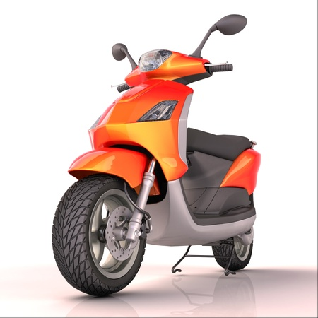 cutcat: Scooter isolated Stock Photo