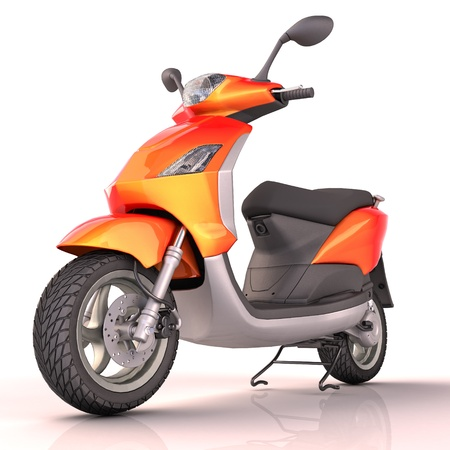 motor scooter: Scooter isolated Stock Photo