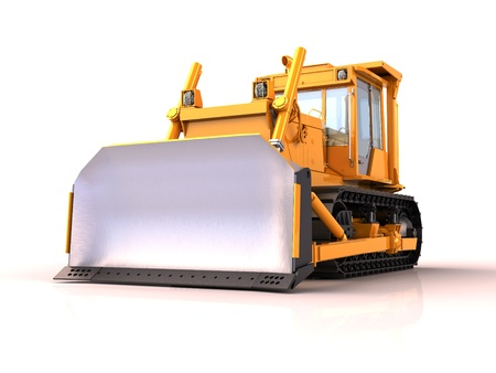 Bulldozer isolated Stock Photo - 15805550
