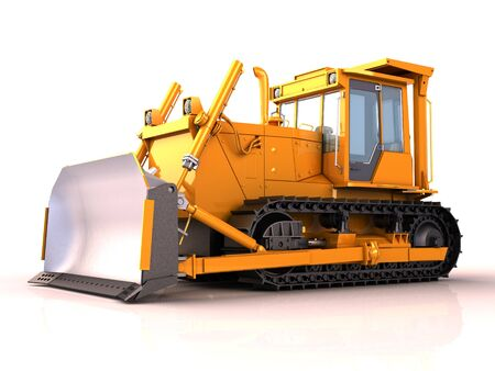Bulldozer isolated photo