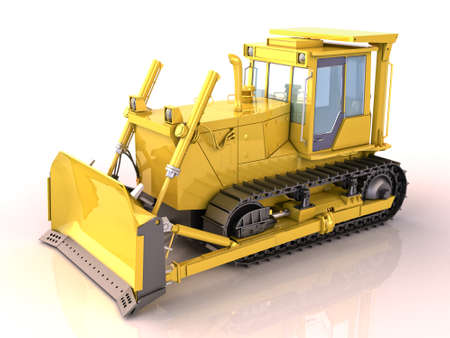 Bulldozer isolated Stock Photo - 16146030