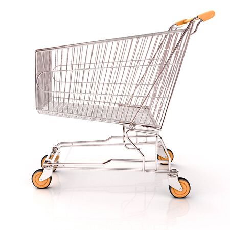 shopping carriage: Shopping cart isolated