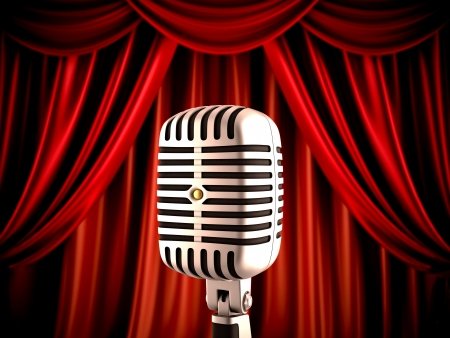 comedic: Microphone on stage