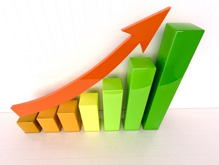 headway: Increased growth Stock Photo