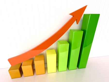 increased: Increased growth Stock Photo