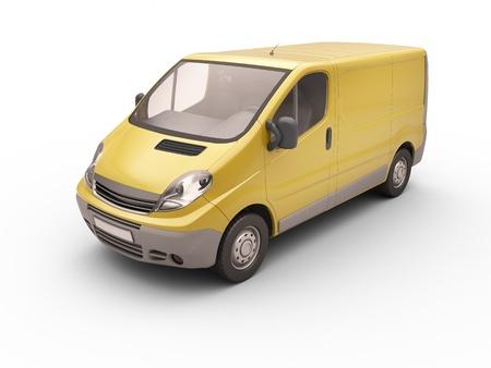cutcat: Commercial van isolated
