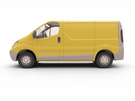 ensuring: Commercial van isolated