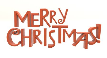 cutcat: Merry Christmas text isolated Stock Photo
