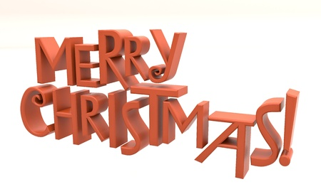 gladden: Merry Christmas text isolated Stock Photo