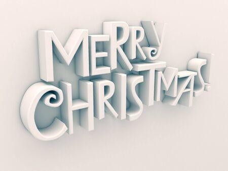 matt: Merry Christmas in white matt rendered letters on a white background