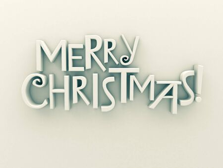 gladden: Merry Christmas in white matt rendered letters on a white background