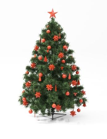 gladden: Christmas tree isolated Stock Photo