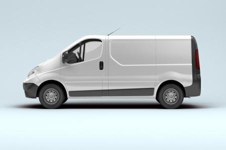 motor de carro: Blanco furgoneta comercial