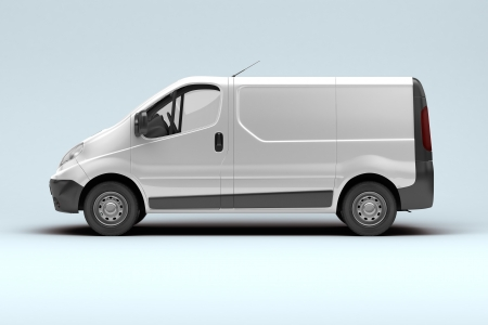 White commercial van photo