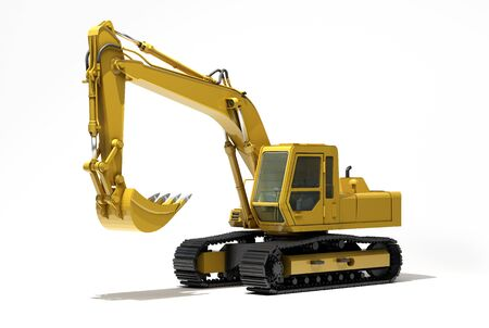 Excavator isolated Stock Photo - 17010180
