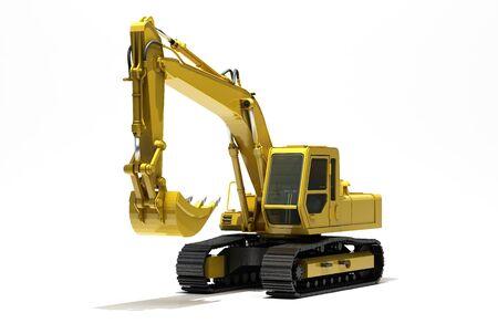 Excavator isolated Stock Photo - 17010165