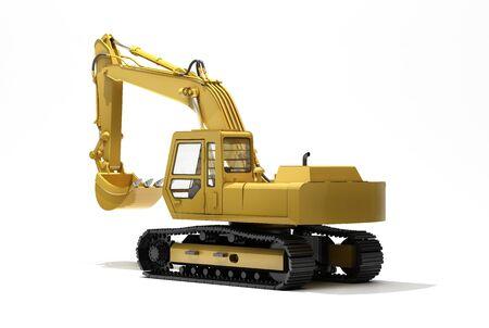 cutcat: Excavator isolated Stock Photo
