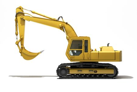 Excavator isolated photo