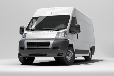 White commercial van photo