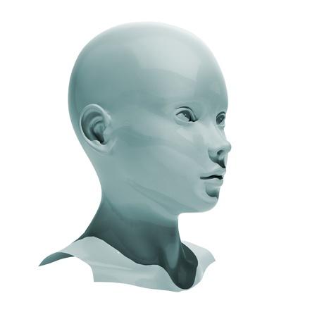 layman: head isolated Stock Photo