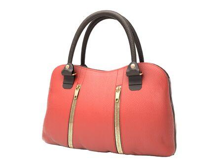 Women's red handbag isolated on white background Stock Photo - 17476132