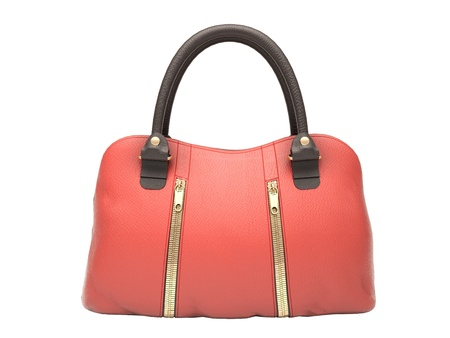 Women's red handbag isolated on white background Stock Photo - 17476134