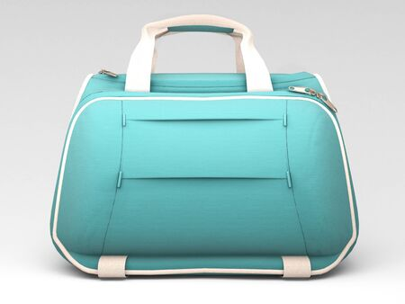 duffel: Turquoise sports bag on a light background with shadow