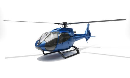 Modern helicopter Stock Photo