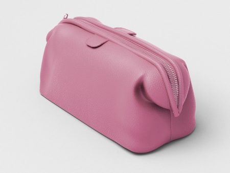 women's issues: Pink leather clutch