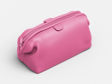 Pink leather clutch Stock Photo - 18783690
