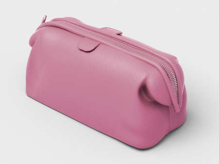 Pink leather clutch Stock Photo - 18783694