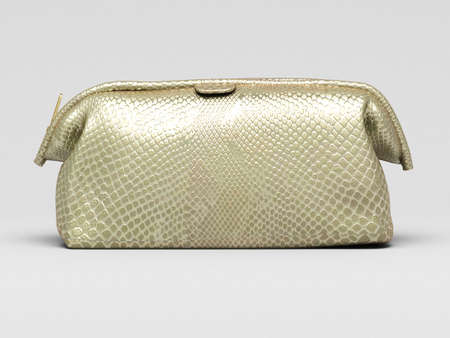 Leather clutch closeup on a light background Stock Photo - 18970555