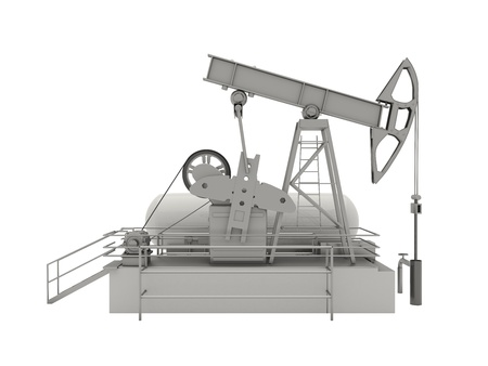 Pumpjack is the overground drive for a reciprocating piston pump in an oil well Stock Photo - 20537170
