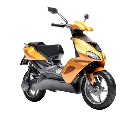 Scooter d'orange ?a mode de pr?sur un fond clair Banque d'images - 20537090