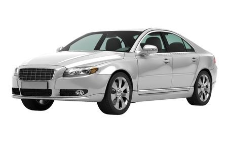 白い背景に分離された現代的な高級車 写真素材