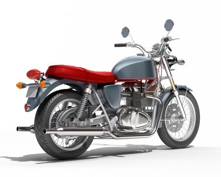 maneuverability: Classic motorcycle isolated on a white studio background