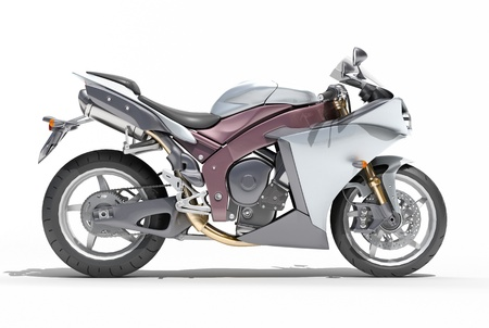 motorsprot: Powerful sports motorcycle isolated on a white studio background Stock Photo