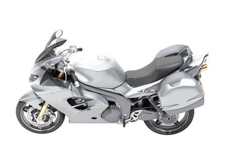 Powerful sports motorcycle isolated on a white studio background Stock Photo - 20537275
