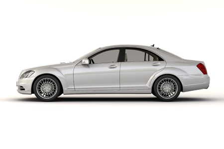 sumptuousness: Luxury car in the studio on a light background Stock Photo