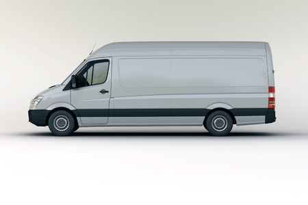 motor de carro: Veh�culos comerciales en el estudio sobre un fondo claro