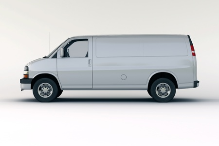 consignment: Commercial vehicle in the studio on a light background