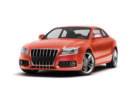 Luxury car in the studio on a light background Banque d'images