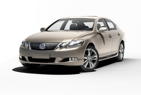 Luxury car in the studio on a light background 写真素材