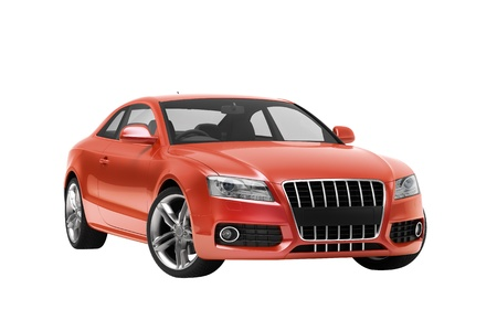 motor de carro: Coche de lujo en el estudio sobre un fondo claro