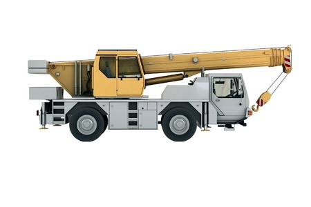 Mobile crane in studio on light background Stock Photo - 20560527