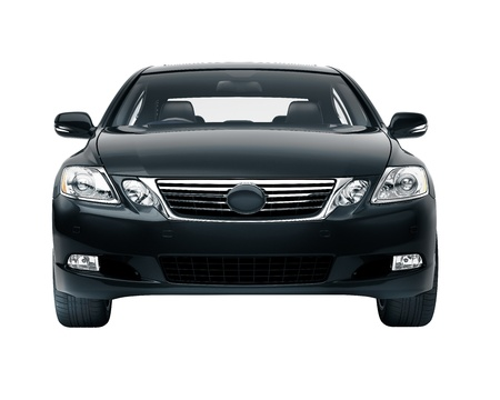 sedan: Luxury car in the studio on a light background Stock Photo