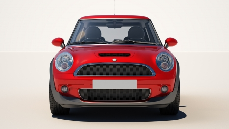 New car on a light background, no environment Banque d'images