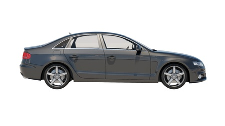 Car isolated on white background without shadow 写真素材